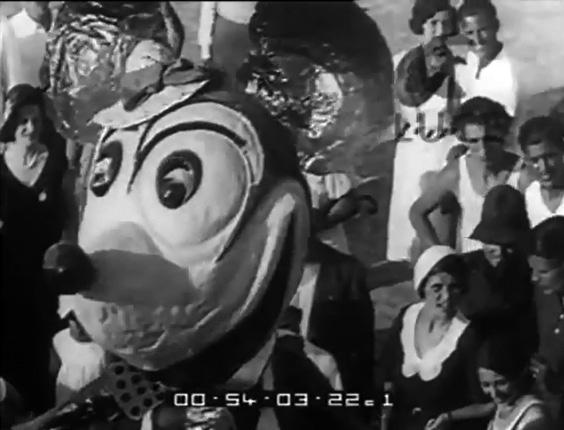 Topolino di Carlo Cinquini - Maschere Isolate - Carnevale di Viareggio 1932