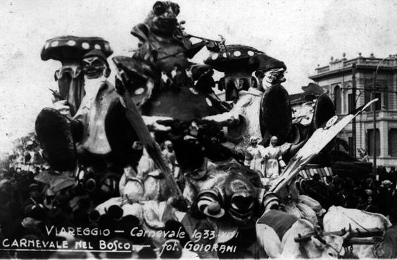 Carnevale nel bosco di Renato Santini - Carri piccoli - Carnevale di Viareggio 1933