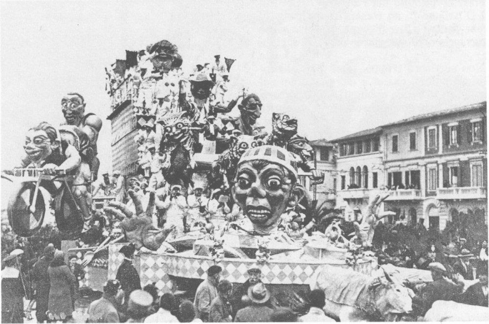 Carnevale sport di Antonio D'Arliano - Carri grandi - Carnevale di Viareggio 1933