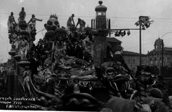 Cuccagna carnevalesca di Michele Pescaglini - Carri grandi - Carnevale di Viareggio 1933
