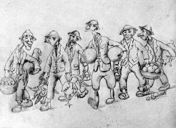 Doni di fattoria di Lamberto Pitoni e Artebano Mazzoni - Mascherate di Gruppo - Carnevale di Viareggio 1933