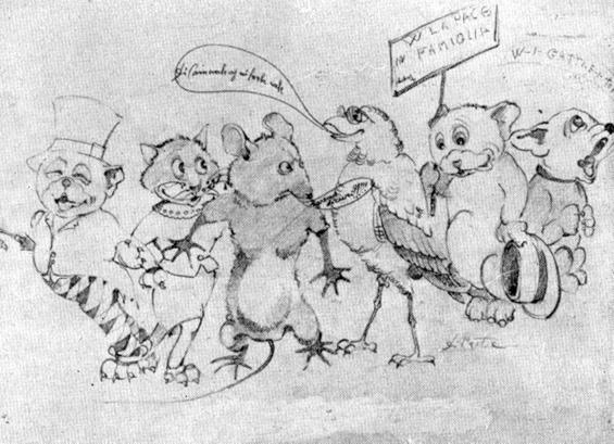 Il mondo nel duemila di Augusto Pucci - Mascherate di Gruppo - Carnevale di Viareggio 1933