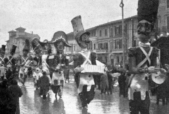 Il plotone dell allegria di Alfredo Morescalchi - Mascherate di Gruppo - Carnevale di Viareggio 1933