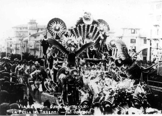 La perla del Tirreno di Alfredo Pardini - Carri grandi - Carnevale di Viareggio 1933
