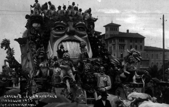 Le cascate al carnevale di Michele Pardini - Carri grandi - Carnevale di Viareggio 1933