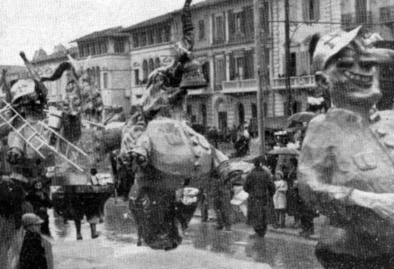 Pompieri moderni di Raffaello Raffaelli - Mascherate di Gruppo - Carnevale di Viareggio 1933