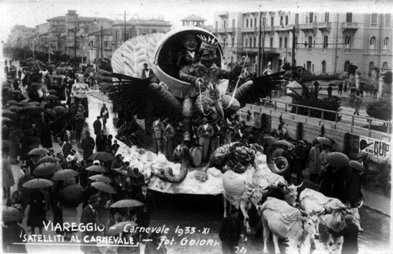 Satelliti al carnevale di Guido Baroni e Bruno Conti - Carri piccoli - Carnevale di Viareggio 1933