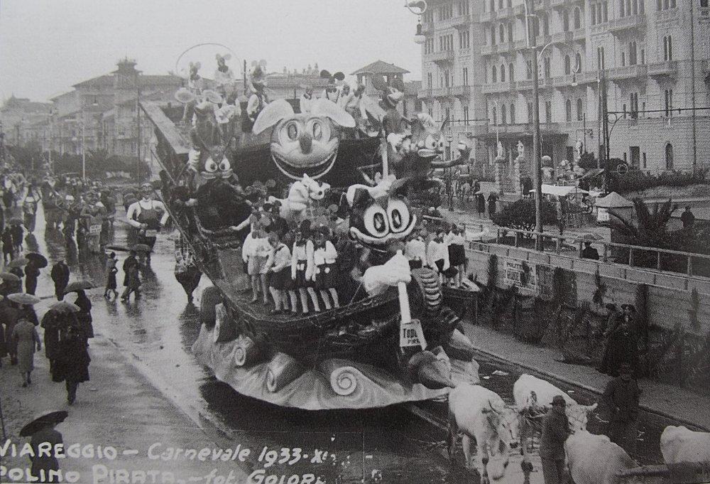 Topolino pirata di Rolando Morescalchi - Carri piccoli - Carnevale di Viareggio 1933