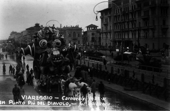 Un punto piu del Diavolo di Francesco Francesconi - Carri piccoli - Carnevale di Viareggio 1933