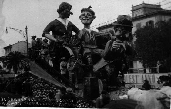 Al carnevale a tutti i costi di Enrico Lubrano - Carri piccoli - Carnevale di Viareggio 1934