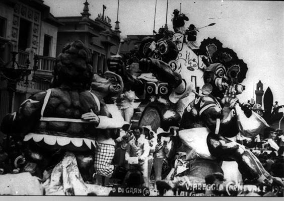 Al colpo di grancassa ballai con quella grassa di Guido Baroni - Carri piccoli - Carnevale di Viareggio 1934