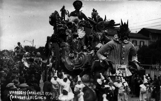 Carnevale al giogo di Michele Pardini - Carri grandi - Carnevale di Viareggio 1934