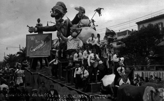 Carnevale fa cattedra di Michele Pasqualini - Carri piccoli - Carnevale di Viareggio 1934