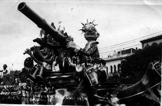 Carnevale inventore di Goffredo Romani - Carri piccoli - Carnevale di Viareggio 1934