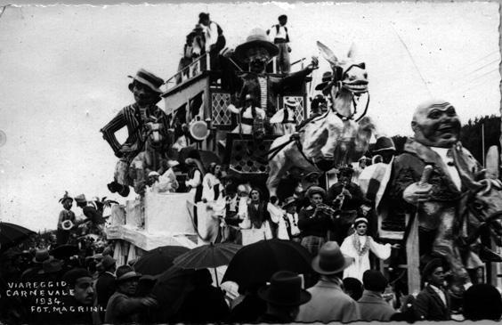Corriera paesana di Michelangelo Marcucci - Carri grandi - Carnevale di Viareggio 1934