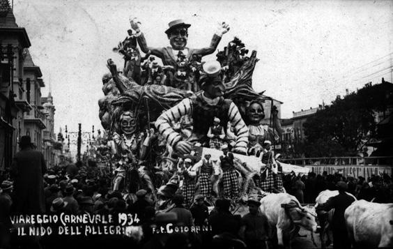 Il nido dell allegria di Guido Lippi - Carri grandi - Carnevale di Viareggio 1934