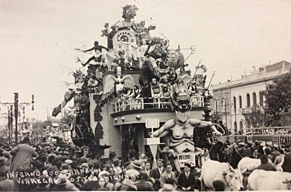 Inferno Novecento di Alfredo Pardini - Carri grandi - Carnevale di Viareggio 1934