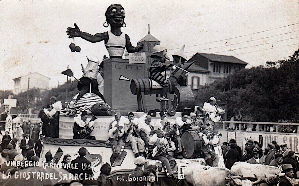 La giostra del saraceno di Dopolavoro Arezzo - Altri Carri - Carnevale di Viareggio 1934