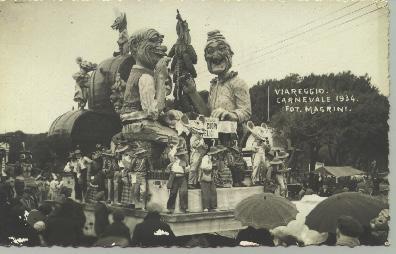 Mosca fiera di Oscar Ghilarducci - Maschere Isolate - Carnevale di Viareggio 1934