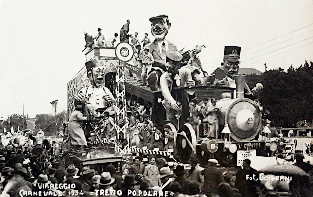 Treno popolare di Francesco Francesconi - Carri grandi - Carnevale di Viareggio 1934