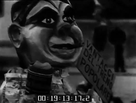 Vantaggi del treno popolare di Alessandro Bertuccelli - Maschere Isolate - Carnevale di Viareggio 1934