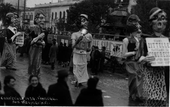 Zitelle a congresso di Gino Martinelli - Mascherate di Gruppo - Carnevale di Viareggio 1934