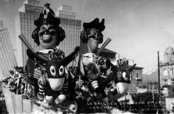 Brigata del buonumore di Carlo Francesconi - Carri piccoli - Carnevale di Viareggio 1935