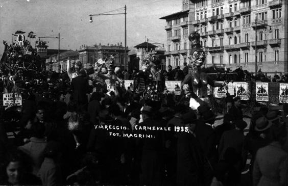 Cacciatori di zanzare di Ettore Contù - Mascherate di Gruppo - Carnevale di Viareggio 1935