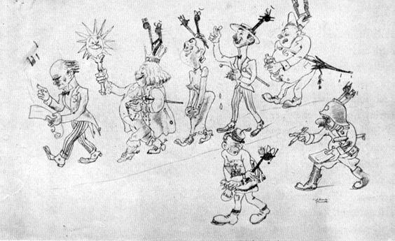 Composizione musicale di Carlo Bomberini - Mascherate di Gruppo - Carnevale di Viareggio 1935