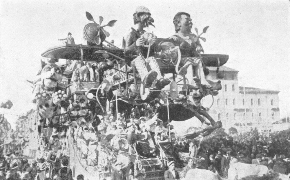La famiglia volante di Alfredo Pardini - Carri grandi - Carnevale di Viareggio 1935