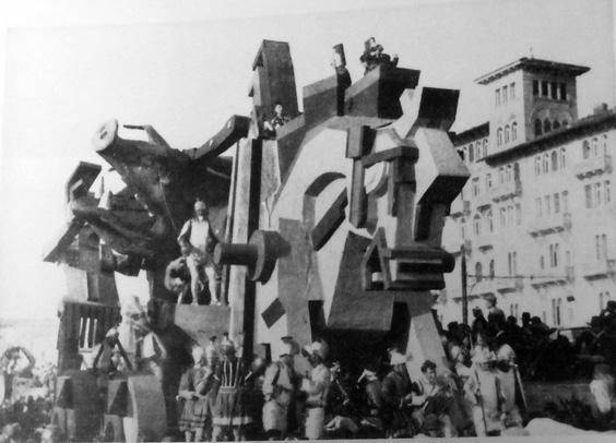 La presa di Troia di OND Viareggio - Carri grandi - Carnevale di Viareggio 1935