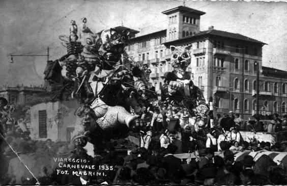 L'amore sui tetti di Guido Baroni - Carri piccoli - Carnevale di Viareggio 1935