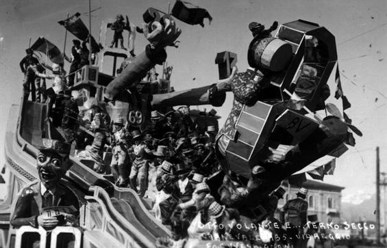 L'otto volante di Michelangelo Marcucci - Carri grandi - Carnevale di Viareggio 1935