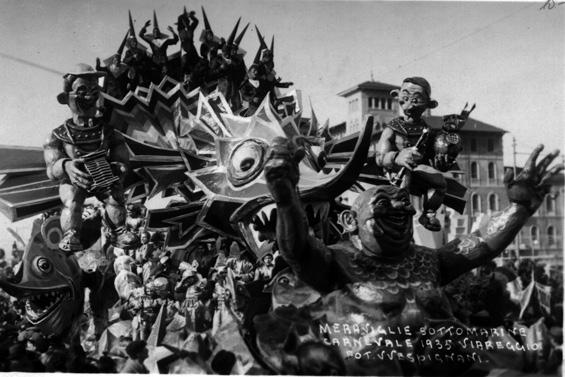 Meraviglie sottomarine di Antonio D'Arliano - Carri grandi - Carnevale di Viareggio 1935