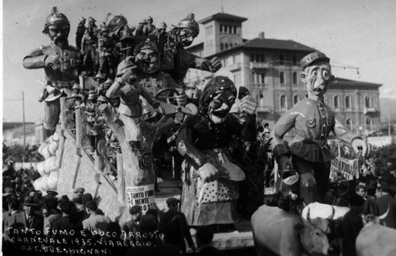 Tanto fumo e poco arrosto di Rolando Morescalchi - Carri piccoli - Carnevale di Viareggio 1935