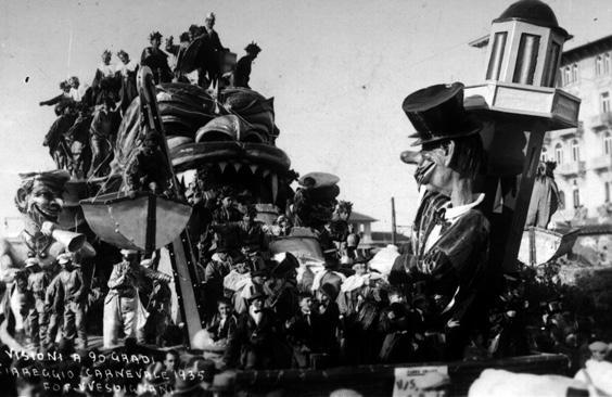 Visioni a novanta gradi di Francesco Francesconi - Carri grandi - Carnevale di Viareggio 1935