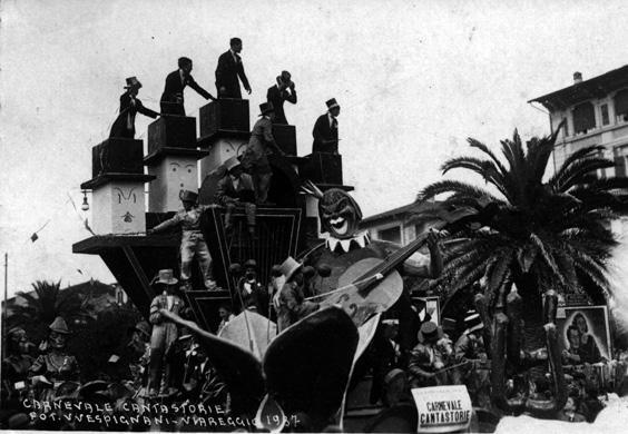 Carnevale cantastorie di Carlo e Francesco Francesconi - Carri piccoli - Carnevale di Viareggio 1937