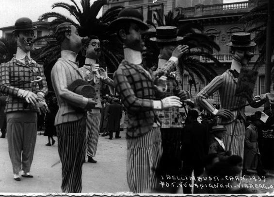 Figure di altri tempi di Alfredo Morescalchi - Mascherate di Gruppo - Carnevale di Viareggio 1937