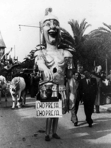L'ho presa, l'ho presa di Renato Galli - Maschere Isolate - Carnevale di Viareggio 1937