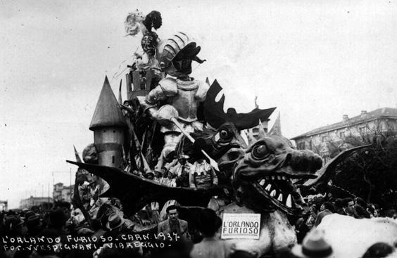 Orlando furioso di Guido Baroni - Carri piccoli - Carnevale di Viareggio 1937