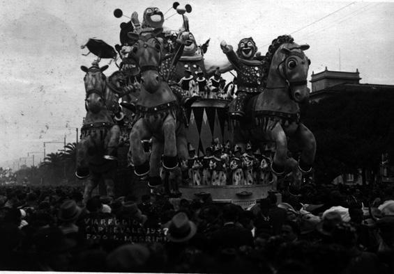 Pagliacciata di Antonio D'Arliano - Carri grandi - Carnevale di Viareggio 1937