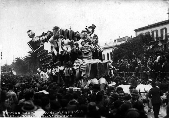 Quando suona Veronica di Rolando Morescalchi - Carri piccoli - Carnevale di Viareggio 1937