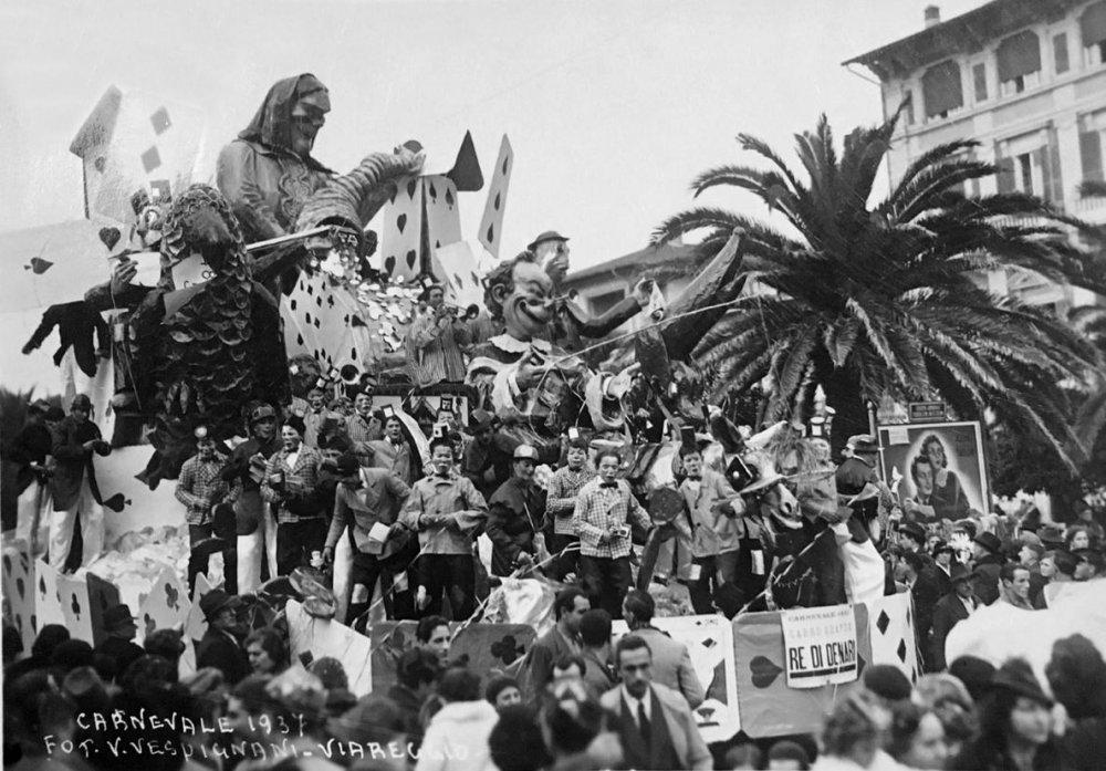 Re di denari di Carlo e Francesco Francesconi - Carri grandi - Carnevale di Viareggio 1937
