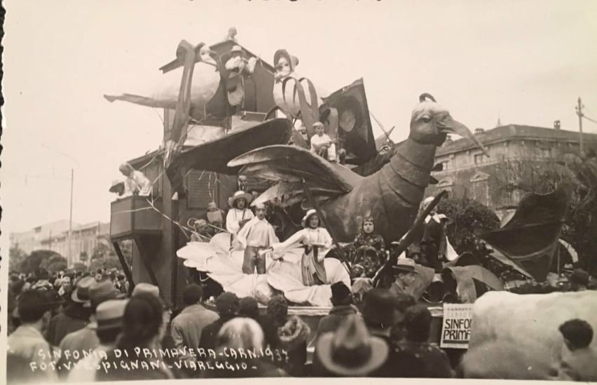 Sinfonie di primavera di Eugenio Pardini - Carri piccoli - Carnevale di Viareggio 1937