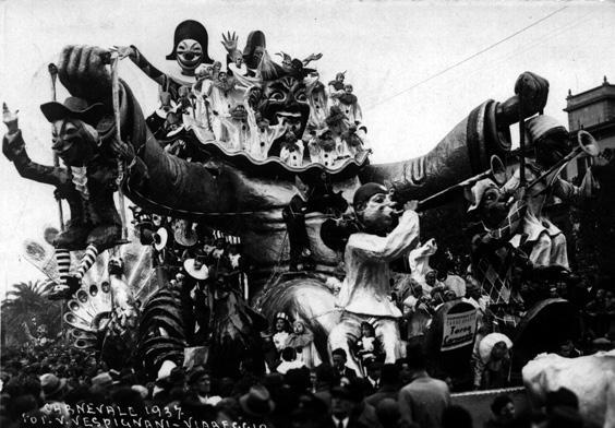 Torna carnevale di Alfredo Pardini - Carri grandi - Carnevale di Viareggio 1937