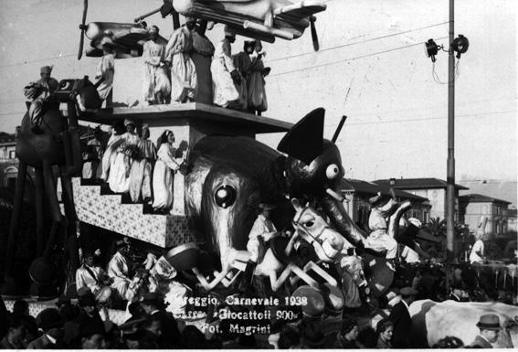 Baraonda culinaria di Alfredo Morescalchi - Mascherate di Gruppo - Carnevale di Viareggio 1938