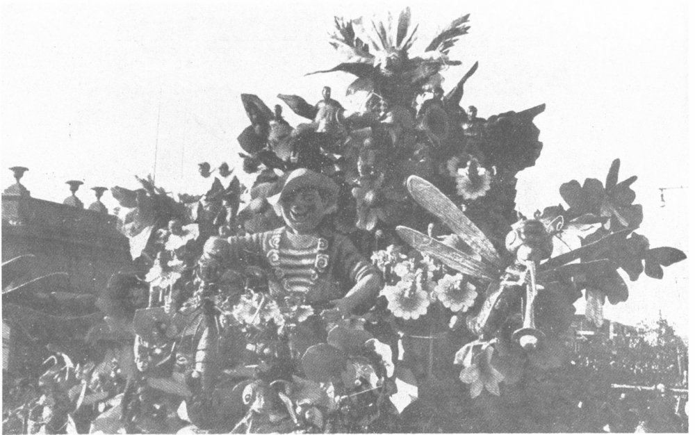 Carnevale in fiore di Michele Pardini - Carri grandi - Carnevale di Viareggio 1938