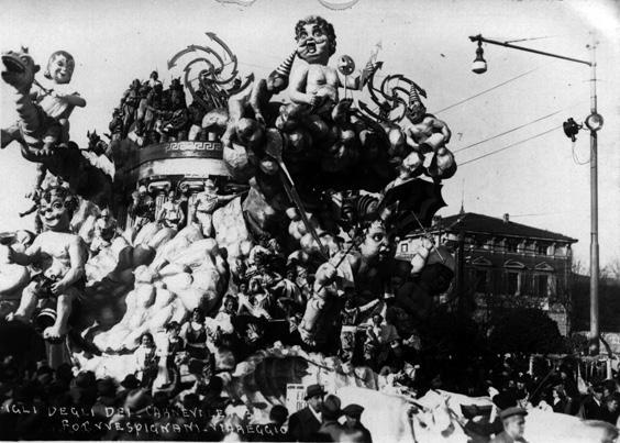 I figli degli dei di Alfredo Pardini - Carri grandi - Carnevale di Viareggio 1938