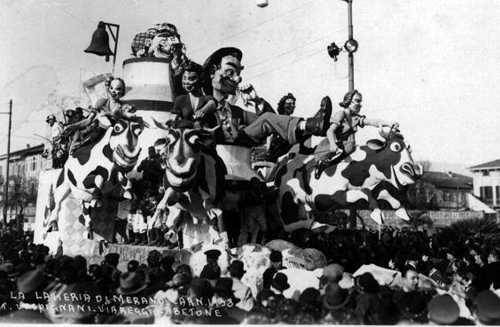 Latteria di Merano di Carlo e Francesco Francesconi - Carri piccoli - Carnevale di Viareggio 1938
