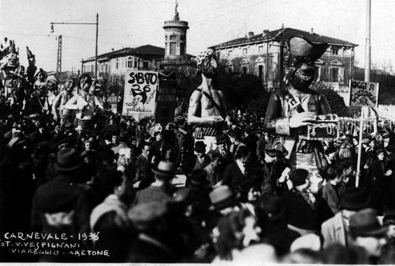 Oggi si gozzoviglia di Alfredo Morescalchi - Mascherate di Gruppo - Carnevale di Viareggio 1938